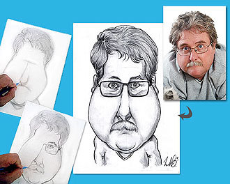 La Caricature � la Main d�apr�s Photo