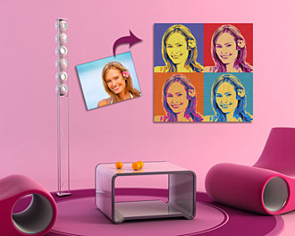 Le Portrait Pop Art Carr�
