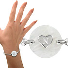 ide cadeau Bracelet nacre et cur en argent personnalis