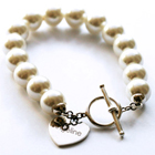 ide cadeau Bracelet Perles Blanches personnalis