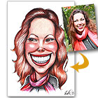 id�e cadeau Caricature � la Main d�apr�s Photo