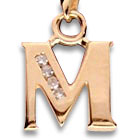ide cadeau Pendentif Initiale Or et Diamants