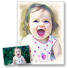 id�e cadeau Portrait Fa�on Aquarelle