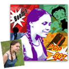 id�e cadeau Portrait Pop-Art Seventies