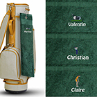 ide cadeau Serviettes de Golf Brodes