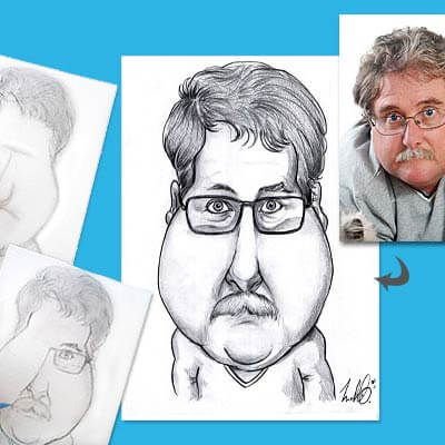 Caricature � la Main d�apr�s Photo