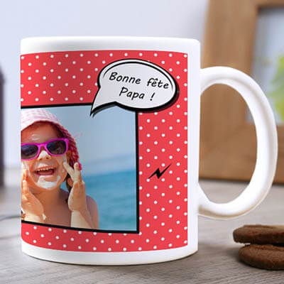 Mug BD Bonne f�te Papa Photo