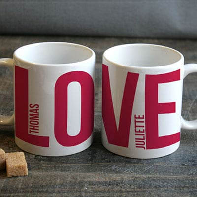 Lot de 2 Mugs Love