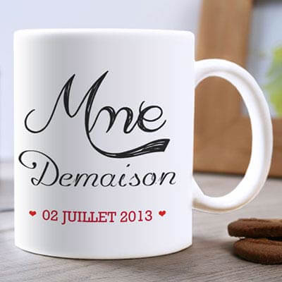 Lot de 2 Mugs M & Mme