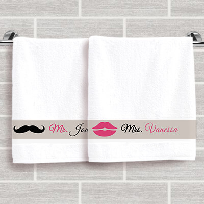 Duo de serviettes Mr & Mrs