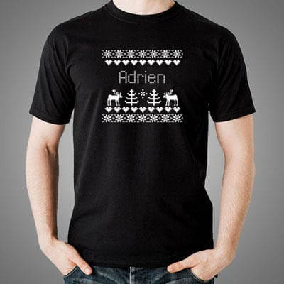 T-shirt Christmas Noir
