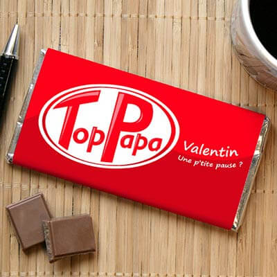 Tablette de Chocolat Top Papa