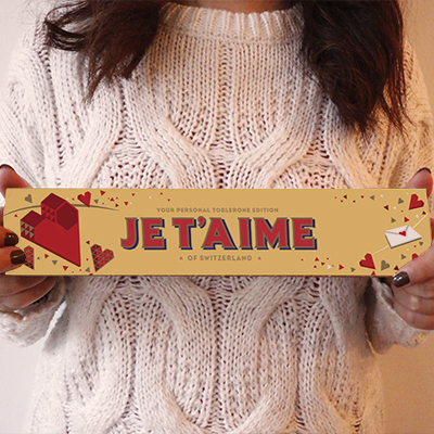 Toblerone personnalisable - Love