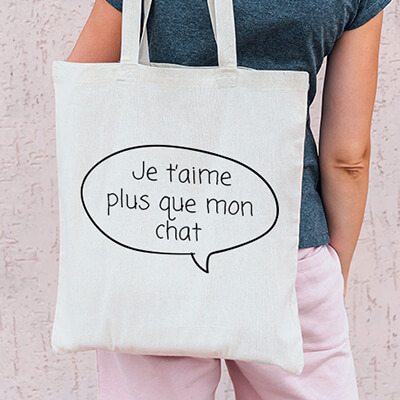 Tote bag personnalisable - Bulle dialogue