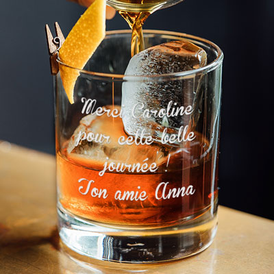 Verre � Whisky Message